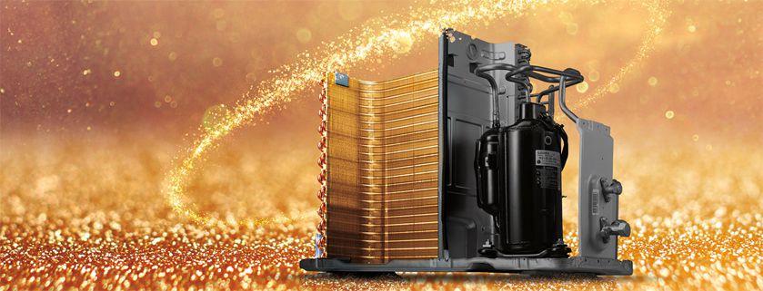 فین طلایی کولر گازی گرین