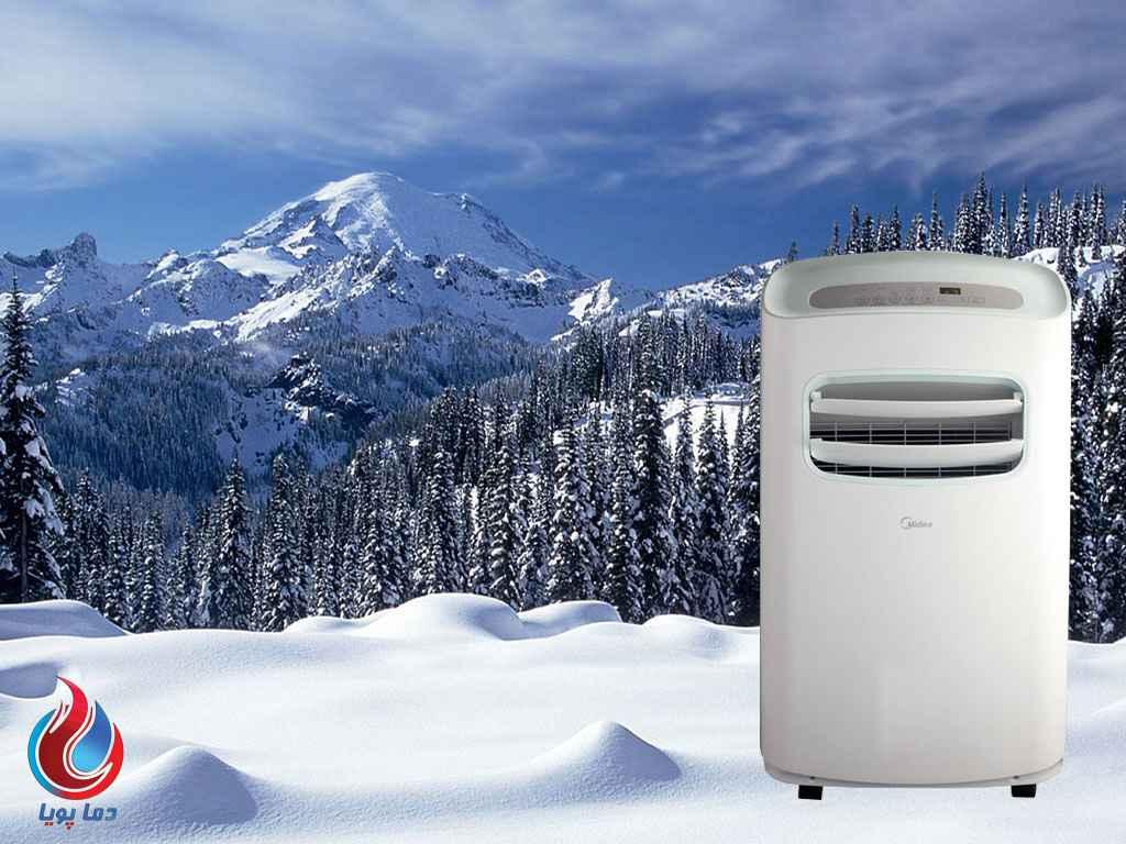کولر گازی پرتابل سرد و گرم 12000 اورآ میدیا